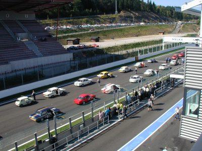 Historic Car Racing Grid